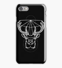 Stag in White iPhone Case/Skin