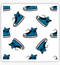 Sneakers seamless pattern, hand drawing Sticker