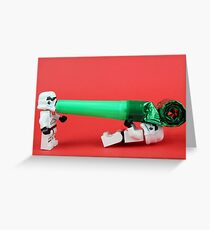 Lego Storm trooper birthday surprise Greeting Card