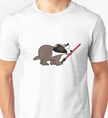 zombie pirate badger wielding a light saber T-Shirt