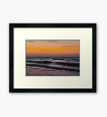 Small Boat at Sea Jericoacoara Brazil Framed Print