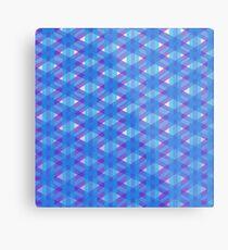 Woven Blue Metal Print