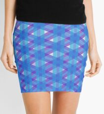Woven Blue Mini Skirt