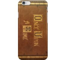 Once Upon A Time - Large Text Cover iPhone Case/Skin