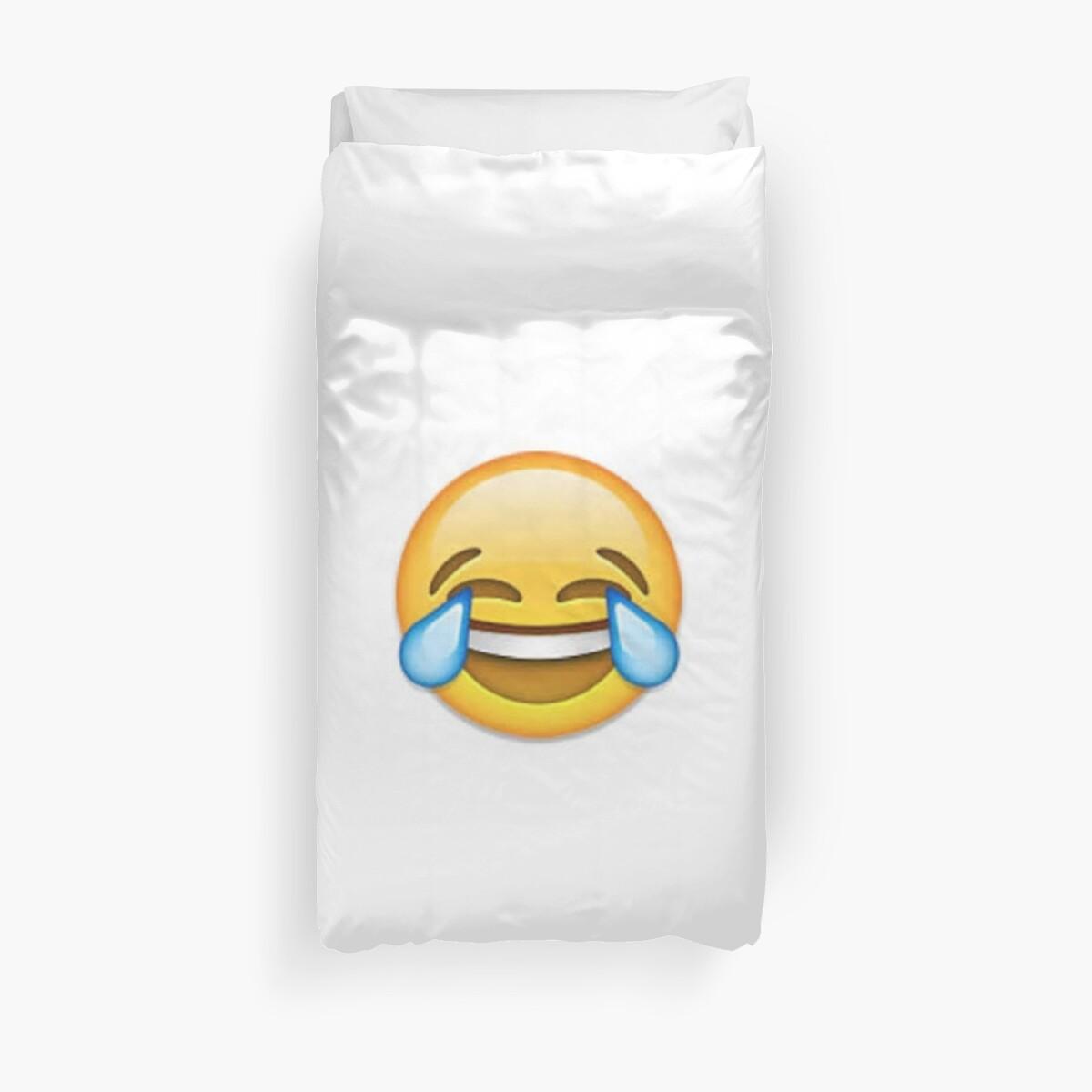 Quot Laughing Emoji Quot Duvet Covers By Janetgonzalez Redbubble