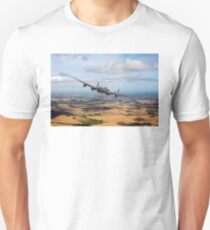 Home stretch: Lancaster over England Unisex T-Shirt