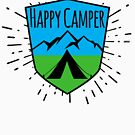 HAPPY CAMPER CAMPING TENT MOUNTAINS OUTDOORS LOVE by MyHandmadeSigns