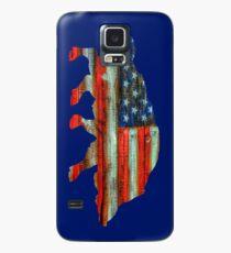 Funda/vinilo para Samsung Galaxy Wild Boar Pig USA Merica