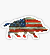 Pegatina Wild Boar Pig USA Merica