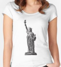 Lady Liberty Women's Fitted Scoop T-Shirt
