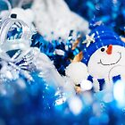 Christmas card in blue colors by dariazu