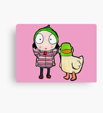 sarah and duck Canvas Print