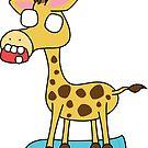 zombie giraffe on a skateboard by shortstack
