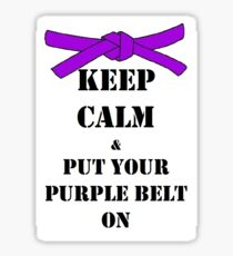 Keep Calm - Purple Belt Sticker