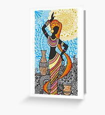 Dancing with the wind Greeting Card
