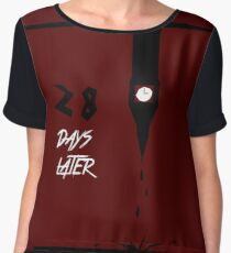 28 Days Later minimalist poster Women's Chiffon Top
