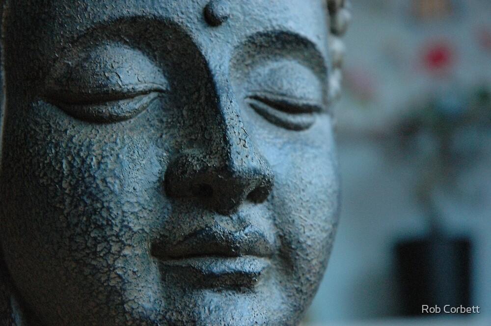 Buddha, in Blue. by Rob Corbett