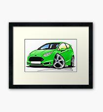 Ford Fiesta (Mk7) ST Green Framed Print
