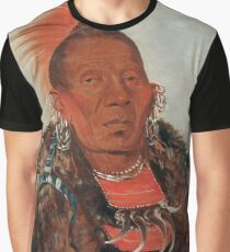 Wah-ro-née-sah (The Surrounder) Chief of the Otoe tribe. Graphic T-Shirt