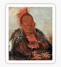 Wah-ro-née-sah (The Surrounder) Chief of the Otoe tribe. Sticker