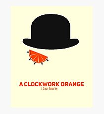 A Clockwork Orange minimalist poster Photographic Print
