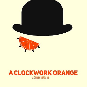 A Clockwork Orange minimalist poster by Dinnershark