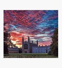 Dawn over King's College Chapel, UK Photographic Print