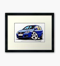 VW Golf (Mk5) GTi Blue Framed Print
