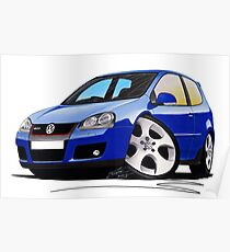VW Golf (Mk5) GTi Blue Poster