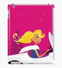 Girly Chick Driver in a Convertible Car iPad Case/Skin
