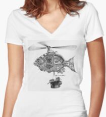 Weebits Flying Fish Excursion Women's Fitted V-Neck T-Shirt