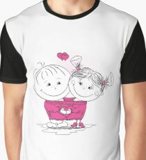 man and woman in love in one big jumper Graphic T-Shirt