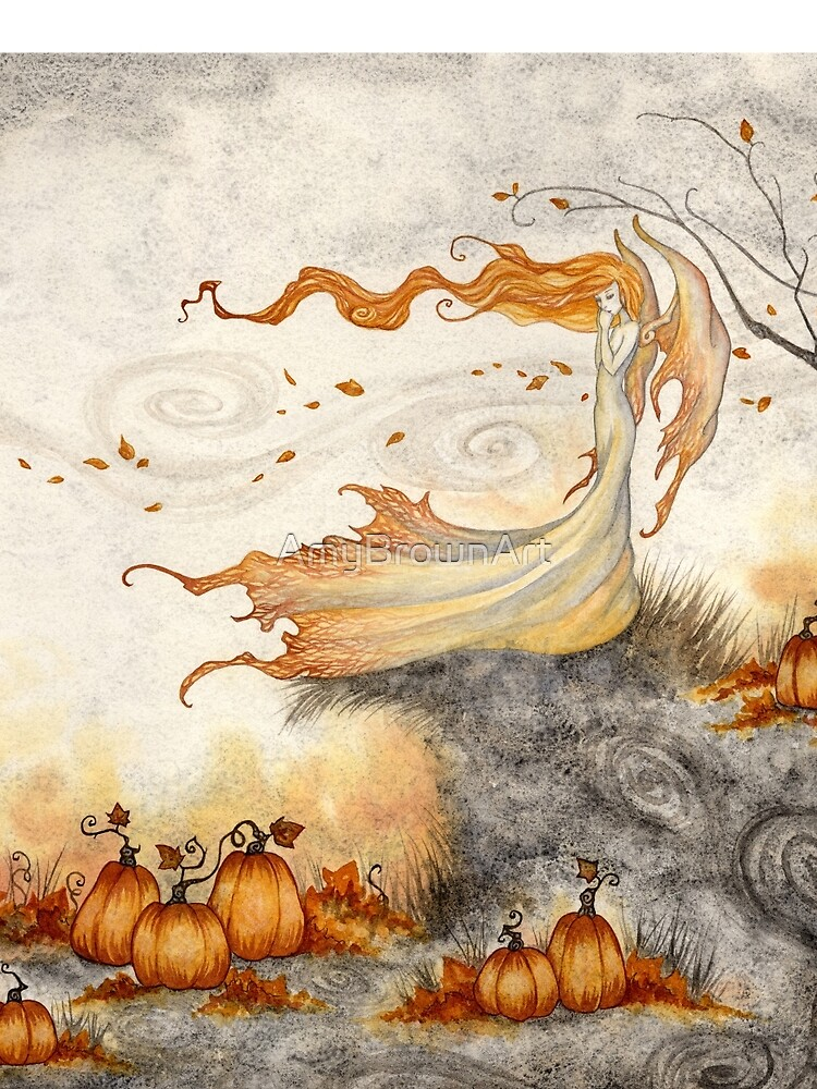 Whispers in the Pumpkin Patch by AmyBrownArt