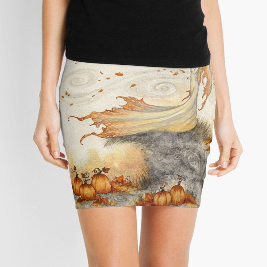 Whispers in the Pumpkin Patch Mini Skirt