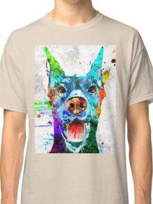 Doberman Pinscher Grunge Classic T-Shirt