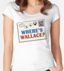 Where's Wallace? (The Wire) Women's Fitted Scoop T-Shirt