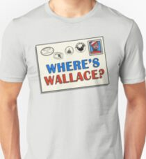 Wo ist Wallace? (Das Kabel) Slim Fit T-Shirt