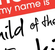 Hello, my name is... Sticker