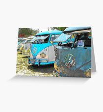 Surfs up and the VW-Bus Greeting Card