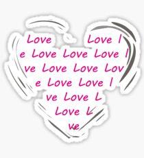fuchsia heart Sticker