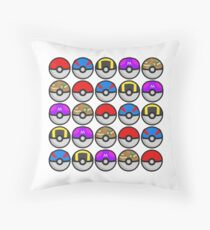 PokéBalls! Throw Pillow