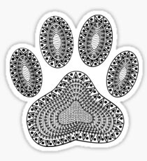Abstract Ink Dog Paw Print Sticker