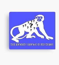 Smart Monkey Funny Meme Canvas Print