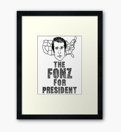 FONZ FOR PRESIDENT Framed Print