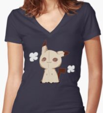 Mimikkyu - Pokemon Sun & Moon Women's Fitted V-Neck T-Shirt
