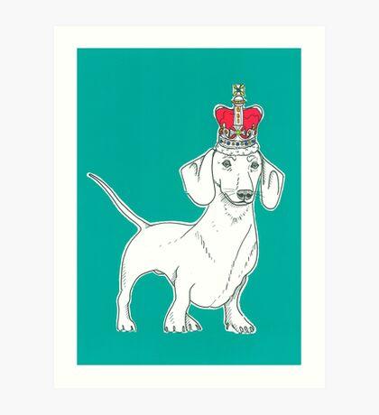 Dachshund In A Crown Art Print