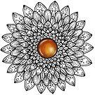 Mandala with Amber Gemstone by WelshPixie