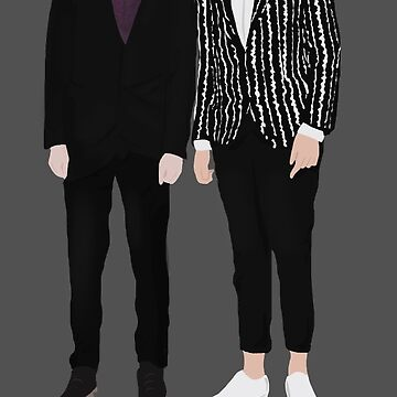 Fancy Dan & Phil Silhouette With Text by lindsaygreth
