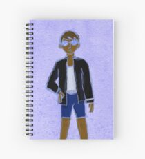 Young Agender Woman with Glasses Spiral Notebook