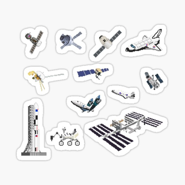 Spacecraft - Space Vehicles - The Kids' Picture Show - 8-Bit Sticker